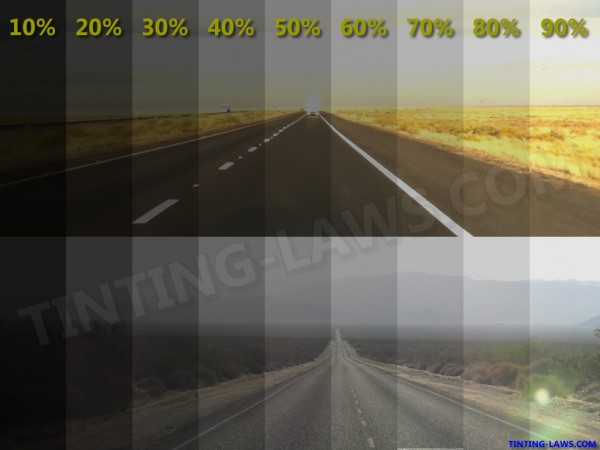 Window tint percentage chart