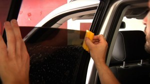 Applying car window tint